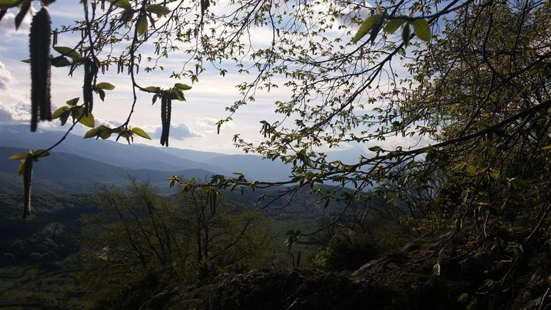 Vista di Campo di Giove da monte Coccia